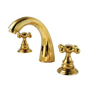 Gold Plated Brass Faucet With Two Hanlder