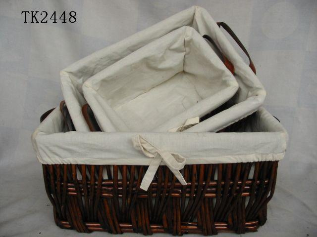 Hot Sale Home Storage Set Of Four Willow Basket