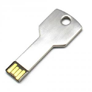 2GB Metal Key Shaped USB Flash Drive Stick Silver