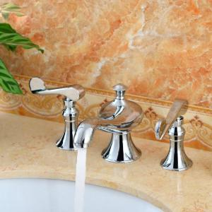 High Quality Double Handles Brass Basin Faucet Tap