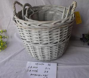 High Quality Home Storage Set Of Three Light Color Woven Basket