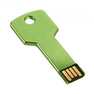 2GB Metal Key Shaped USB Flash Drive Stick Green