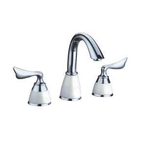 Two Blass Handle Chrome Plated Brass Body Faucet