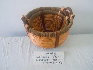 Hot Sale Home Organization Round Shape Home Storage Basket 2Pcs/Set