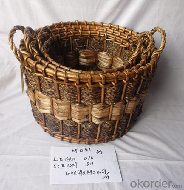 High Quality Home Storage Set Of Three Classical Woven Basket