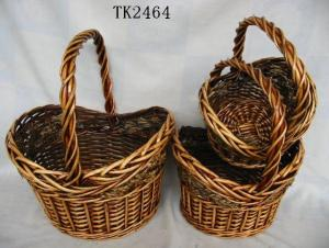 High Quality Home Storage Set Of Three Classical Willow Basket