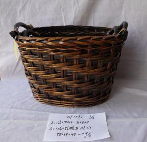 High Quality Home Storage Set Of Three Dark Color Woven Basket