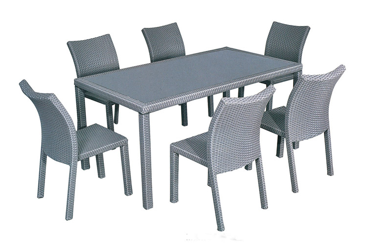 High Quality Outdoor Furniture New Design Rectangular Table And Six Chairs