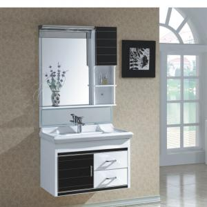 New Fashion Black PVC Bathroom Furniture Bathroom Cabinet