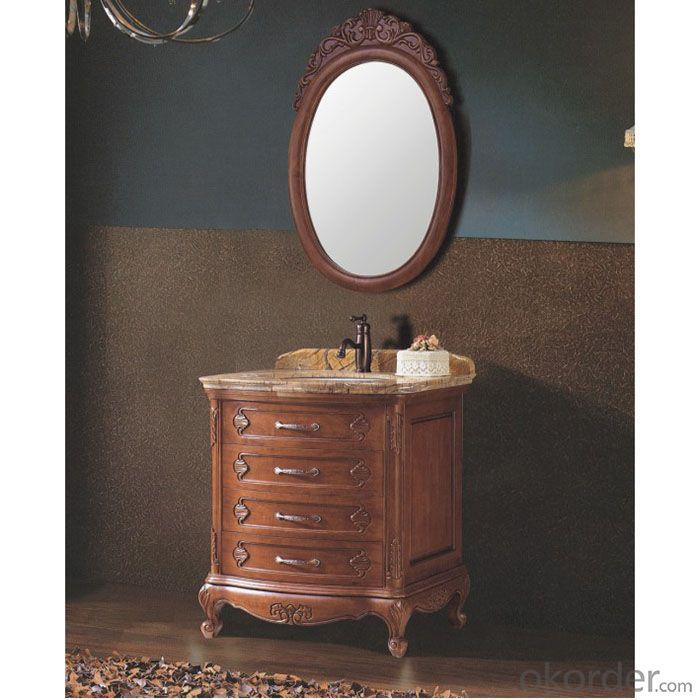 2014 Best Quality American Style Red Oak Bathroom Cabinet