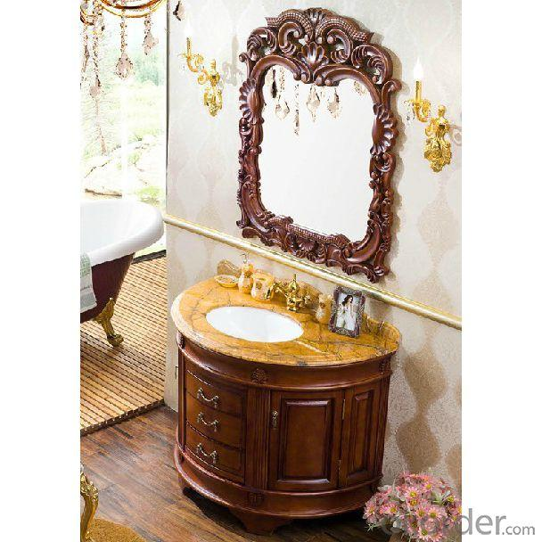Classical Ceramic Top Bathroom Mirror Cabinet