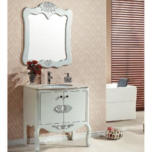 High Quality Oak White Bathroom Cabinet