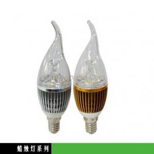 Newest Dimmable LED Bent-tip Bulb Silver Aluminum 4x1W E14 180lm LED Candle Bulb Light