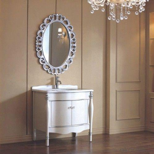 High Quality Solid Wood White Bathroom Cabinet