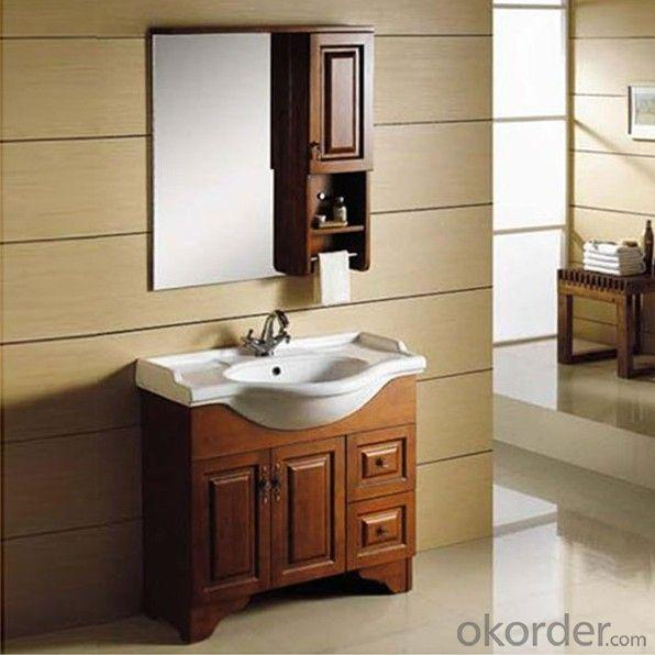 Luxury Design Oak Bath Cabinet Ceramic Top Bath Vanity