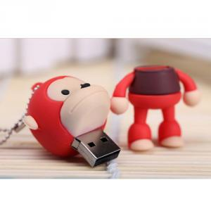 8GB Cute Mini Cartoon Monkey USB Flash Memory Stick Drive Red
