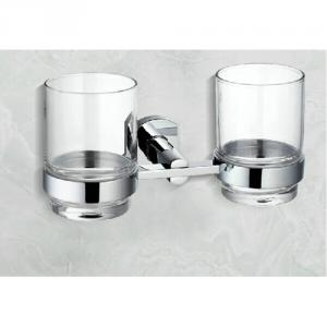2014 New Design Bathroom Accessories Solid Brass Double Tumbler Holder