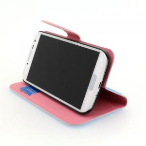 Hot Sale Wallet Pouch Luxury PU Stand Leather Case Cover for Samsung Galaxy S4 (I9500) White