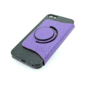 From China Factory For iPhone 5 5s 5g 5gs Bling Snake Skin 360 Degree Rotating Stand Case Smart Cover Purple All Colors