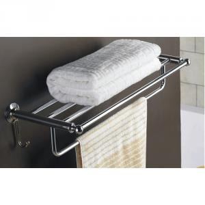 Hot Sale Solid Brass 25 Inch Bathroom Shelf With Towel Bar