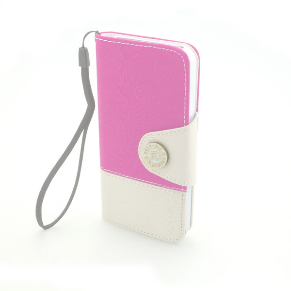 Tree Pattern PU Leather Cover for iPhone5/5S Wallet Pouch Stand Case Pink
