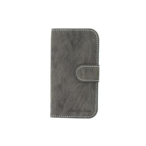 Grey Luxury PU Leather For Samsung Galaxy S4 (I9500) Wallet Pouch Stand Case Cover