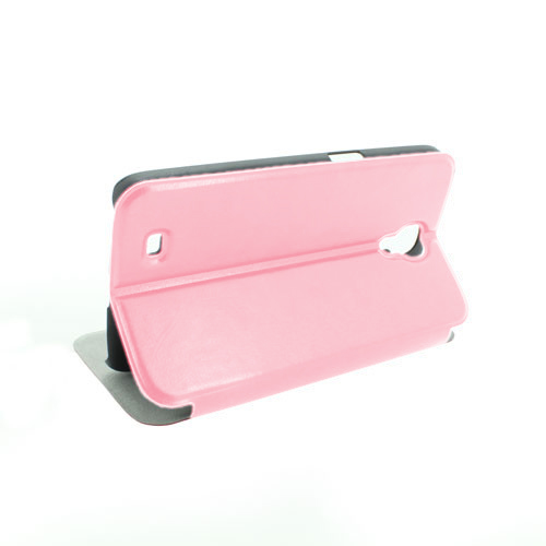 China Factory Ultra Thin PU Leather Case With ID Credit Card Slot Holder For Samsung Galaxy I9500 S4 SVI Pink