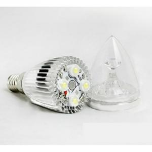 LED Candle High Quality Silver Aluminum 5x1W E14 180lm 85 to 265V LED Candle Bulb Light Spotlight Downlight