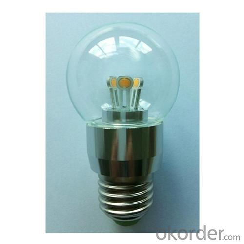 LED Globe Bulb A50 3W E14 180lm 85-265V E26/E27/B22COB LED Chip Clear/Frosted/Milky Glass Cover