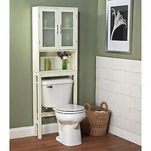 High Quality White Space Saver Bath Cabinet