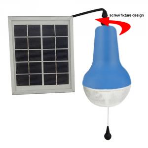 China Factory High Lumens Super Bright Solar Lamp Indoor Solar Lights With Rechargeable Battery 2200mah 150lm 5V Blue