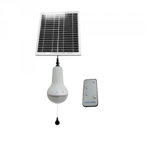 Professional China Supplier Remote Control Solar Lamp Rechargeable Li ion Solar Lamp 220lm White