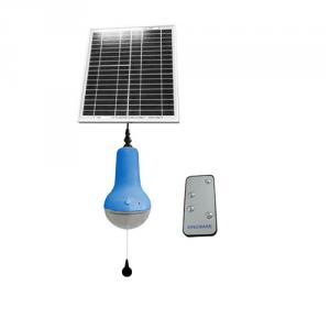 Brightest Solar LED Rechargeable Solar Lantern With Remote Control Indoor LED Solar Lamp Made In China (Blue)