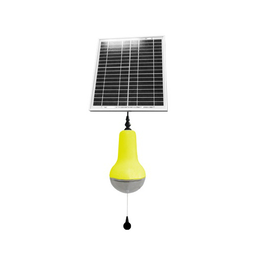 Newest Quality Solar Light Indoor Dimmable 220lm Solar Lamp Bulb Charged by Solar or DC Charge Yellow From China Factory