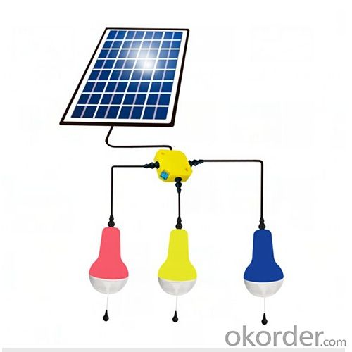 solar lamp groups, 3 solar lamps with 1 panel