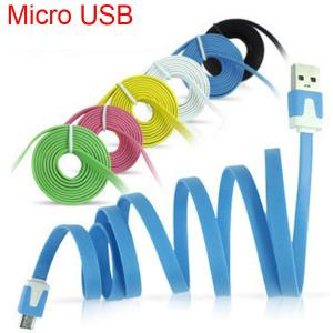 New Plat Noodel Design Micro Usb Cable For Samsung,Nokia,Sony,Htc Ect.