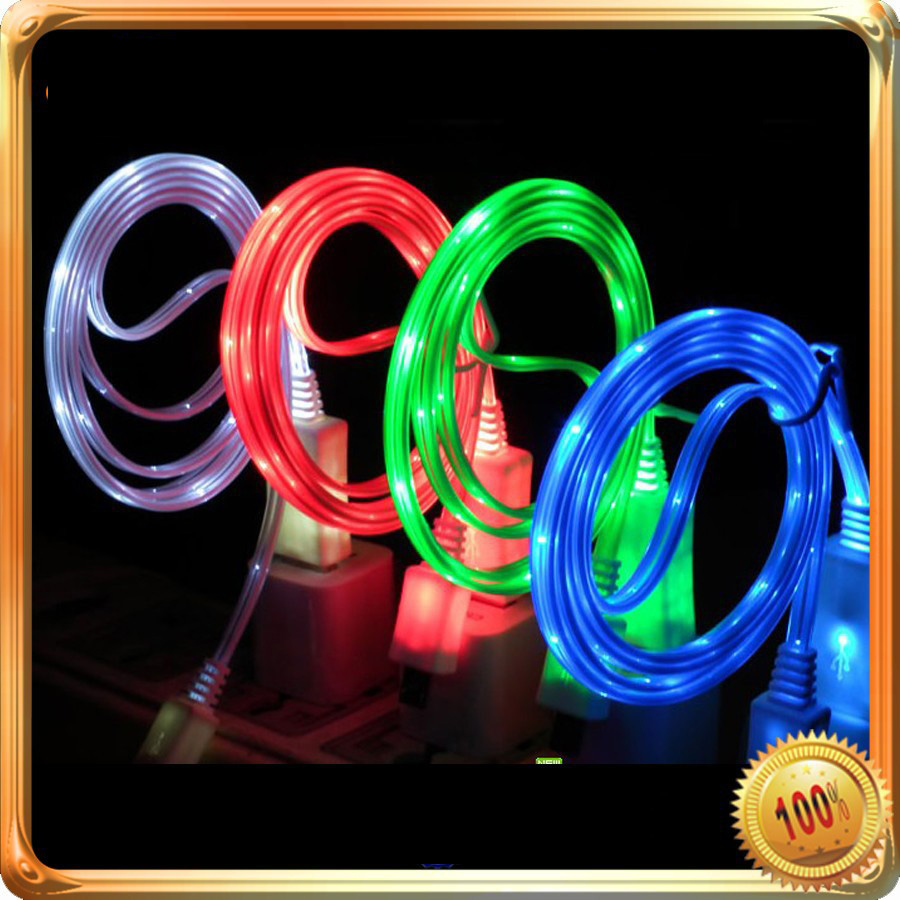 New Arrival! Led Usb Cable For Iphone 4 5 Samsung