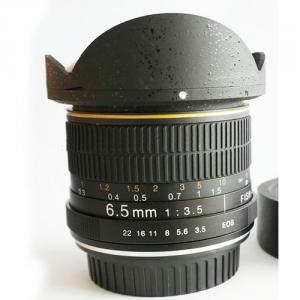 Fisheye Lens For Canon With 6.5mm F/3.5-22 Fisheye Lens