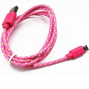 Braided Micro Usb Cable,For Samsung/Htc/Mobile Phone Colorful Fabric Braided Micro Usb Cable