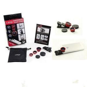 Universal Clip 3 In 1 Fisheye Wide Angle Macro Lens With Retail Package