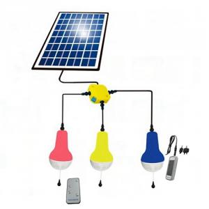 China Manufacture Portable LED Solar Lamp With Remote Control With Mobile Charge LED Solar Light Indoor