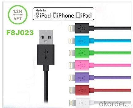 Supports Ios 7 Belkin 1.2M 4Ft Sync 8 Pin Cable For Iphone 5 5S 5C Ipad Mini Ipad 5 Air F8J023