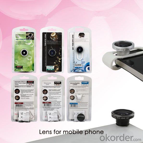 180 Degree Fisheye Lens For Iphone/Htc/Samsung Clip Lens And Tablet Magnification Lens