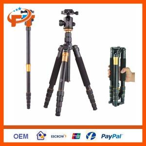 New Q-666 Slr Camera Tripod Monopod &Amp; Ball Head Portable Compact Travel