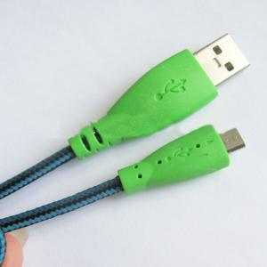 Braided Usb To Micro Usb Cable With Led Light