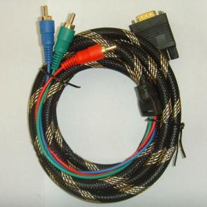 Vga To 3 Rca Component Video Cable