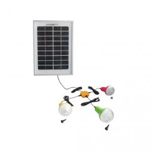 China Factory Newest Solar Light Indoor And Outdoor 3pcs 220lm Solar Lamp Bulb With 1pc 10W 5V Solar Panel