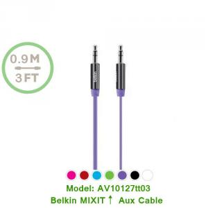 Belkin Aux Cable Universal 3 Ft Mixit Tangle-Free 3.5Mm Aux Auxiliary Cable Cord
