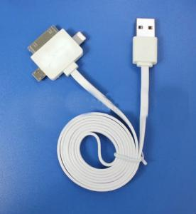 High Quanlity 3 In 1 Usb Cable For Micro 5P, Iphone4,Iphone5S,5C
