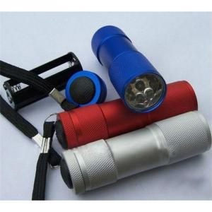 Hotsell Aluminium Mini Super Led Flashlight 9 LED Promotional Flashlight